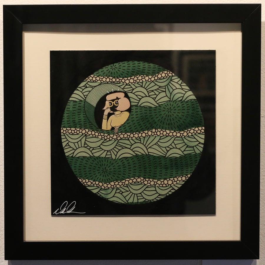 "Image of ""Live In Orb"" Original Watercolor Framed"