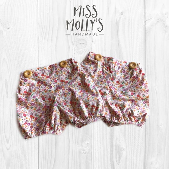 Image of Willow Button Shorties size 3 & 4