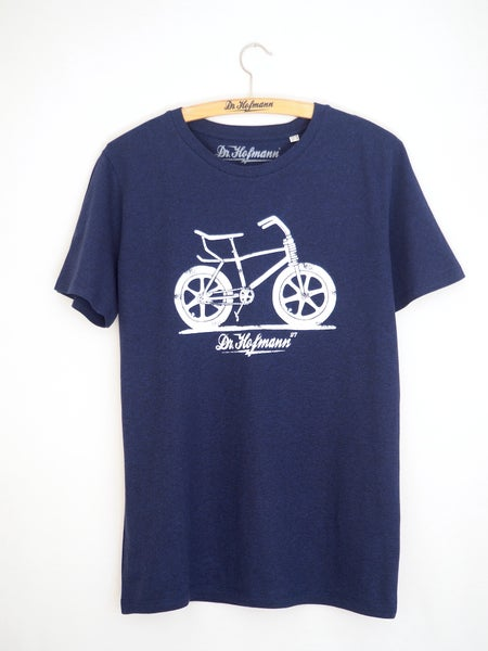 "Image of ""BICICROSS Tee"" - Organic Cotton - Navy Heather"