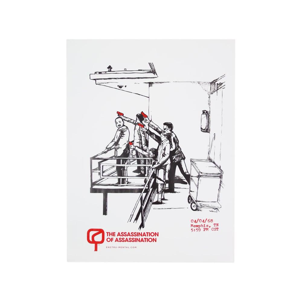 "Image of Enstrumental + Hebru Brantley - ""The Assassination of Assassination"" Poster (2011)"