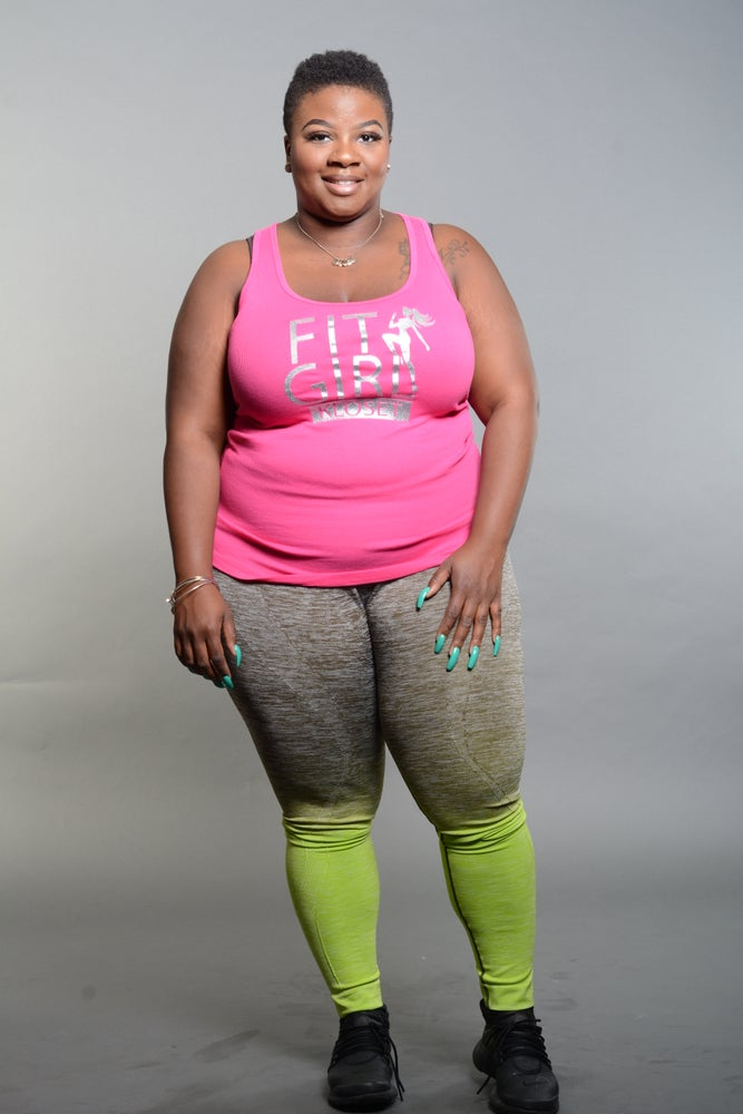 Image of Plus Size Green Ombre Leggings