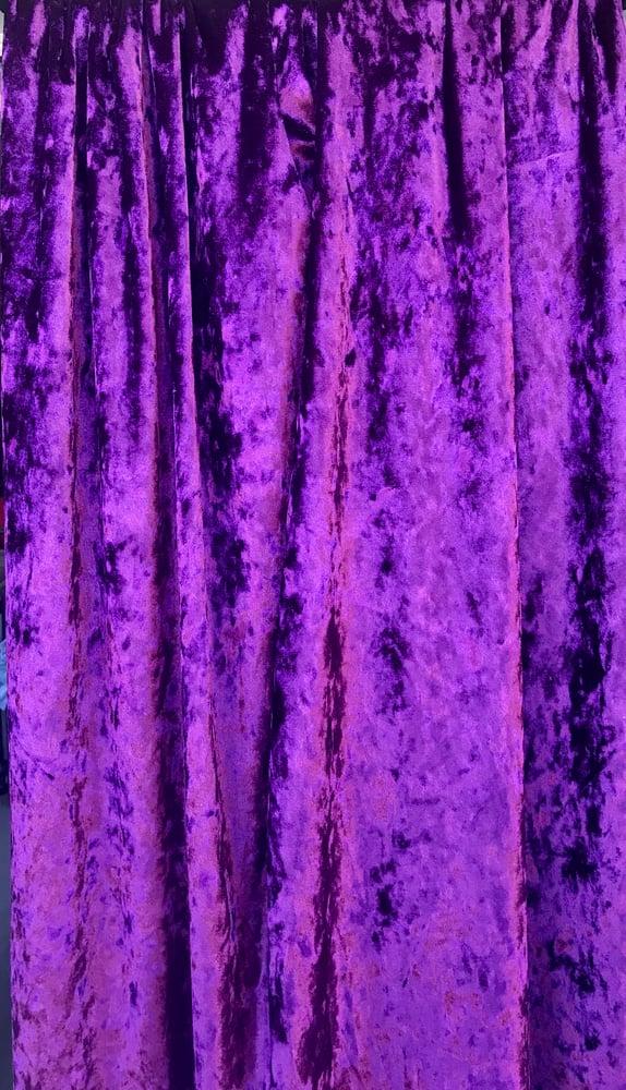 Image of Purple Rain Crushed Velvet
