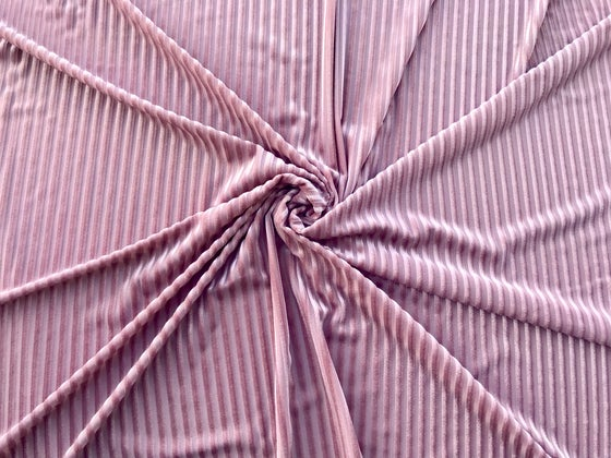 Image of Rose Velvet Ribbed Stripes