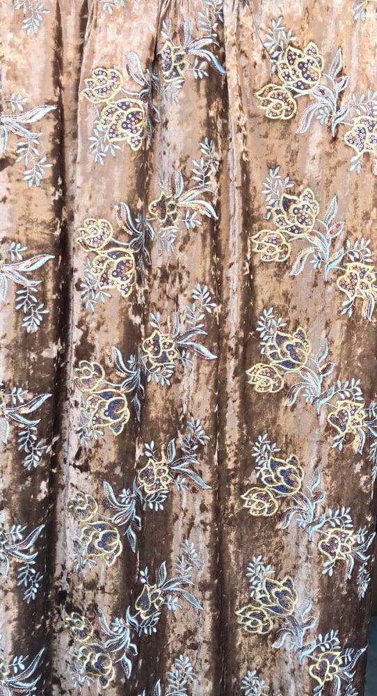 Image of Sandy Embroidered Velvet