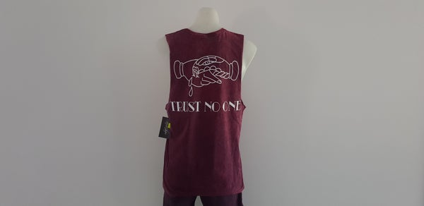 Image of Trust No-One Tank (Acid Red)