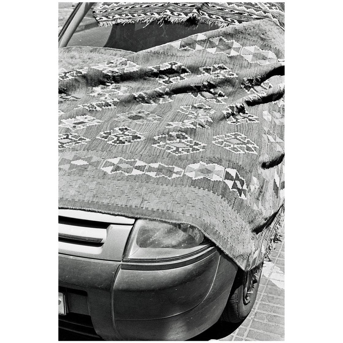 Image of 'Tel Aviv Carpeted Car' - Aluminium Print