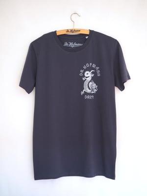 "Image of ""DRAGON"" (backside) - Organic Cotton - Blue Grey"