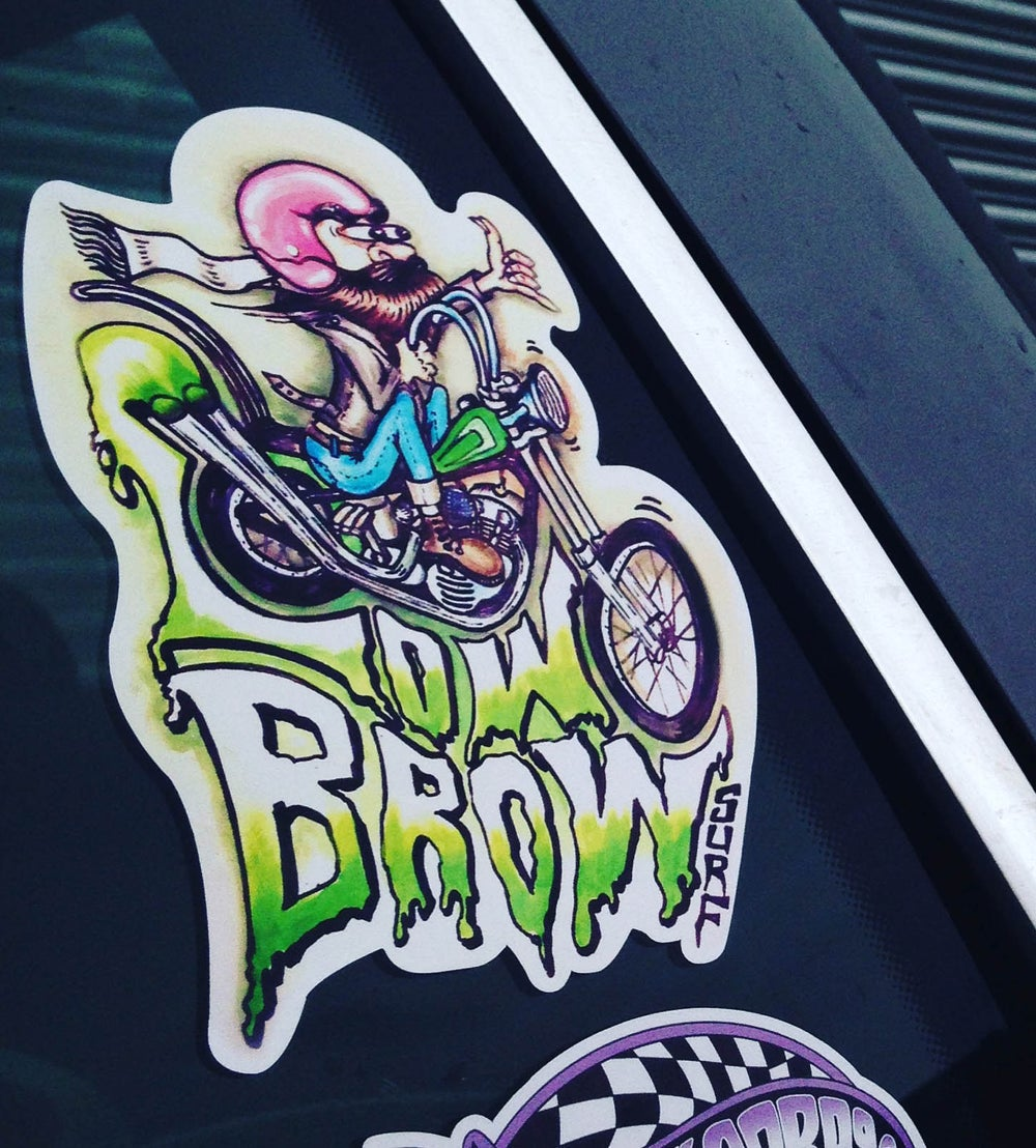 Image of Lowbrow Chopper Sticker