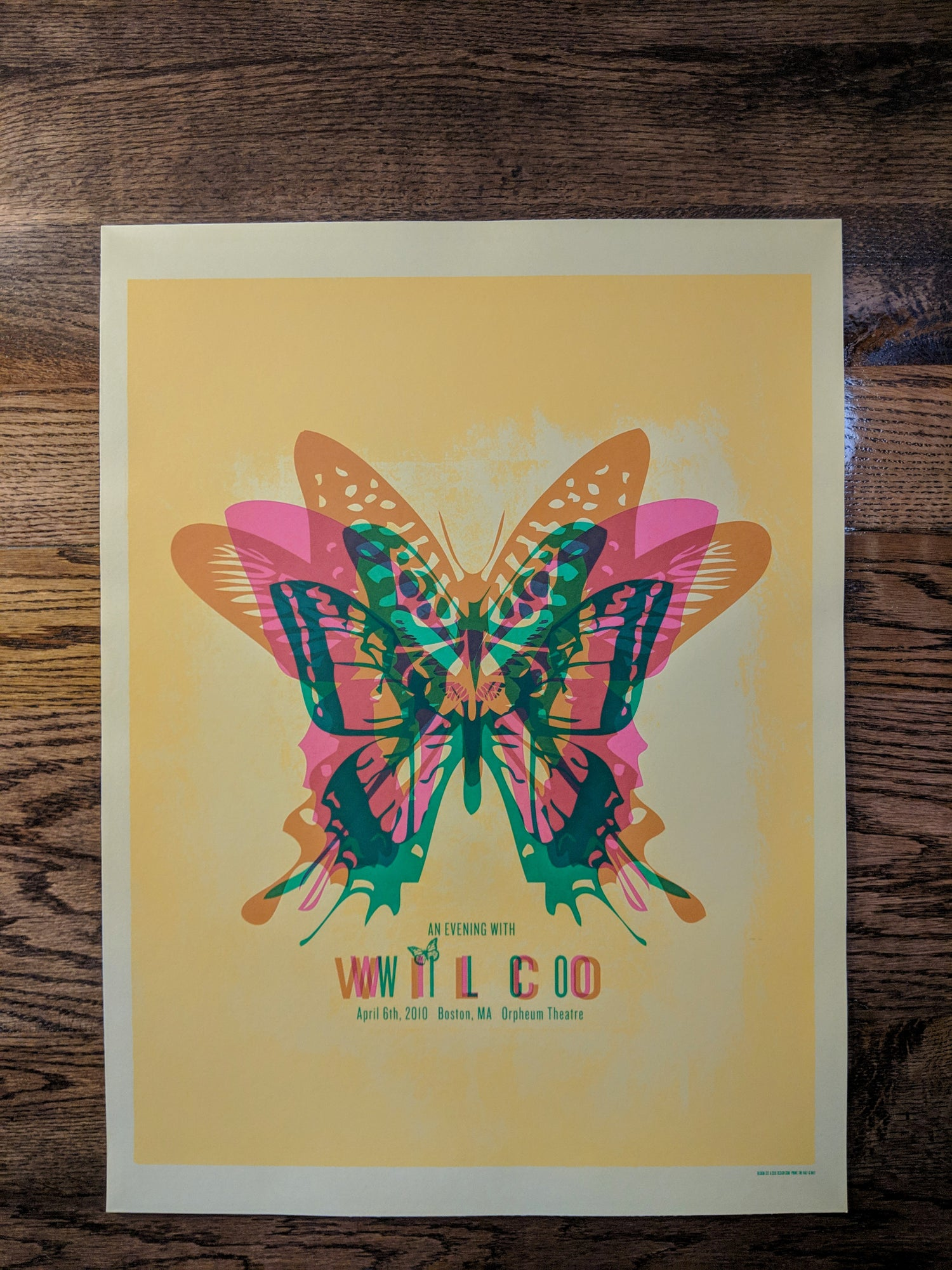 Image of Wilco (An Evening With), Boston Butterfly