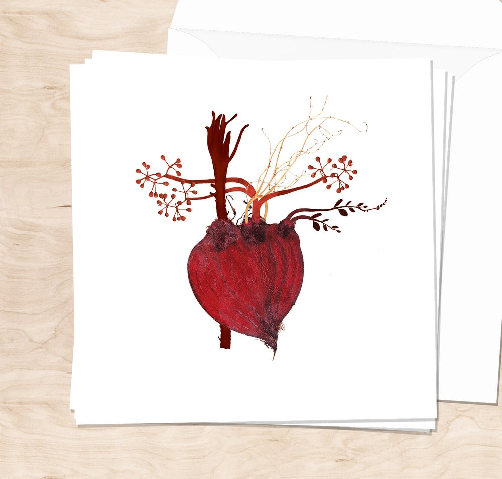 Image of Red Beet Heart 1