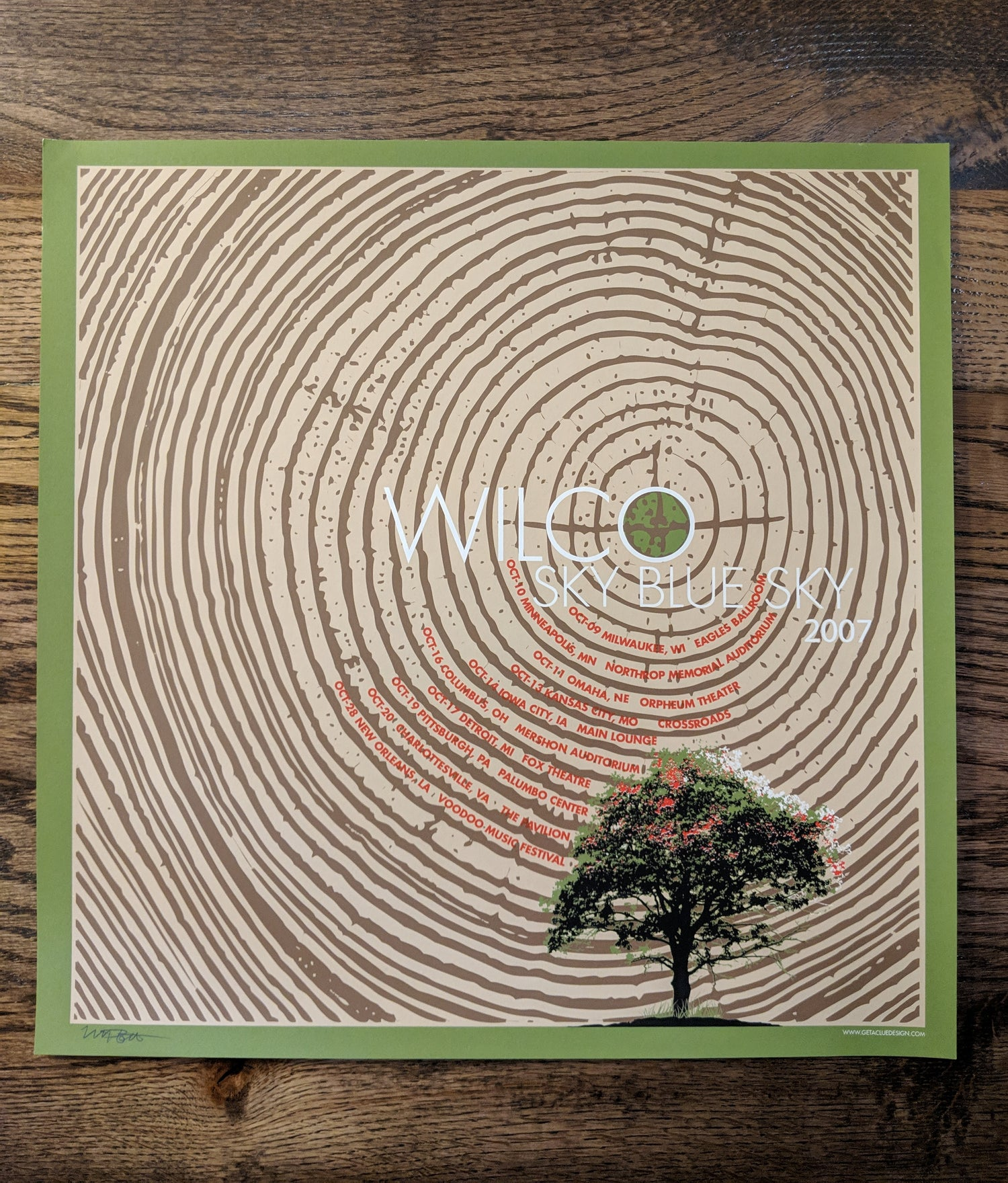 Image of Wilco (Tree Rings) Sky Blue Sky Tour Poster **RARE**