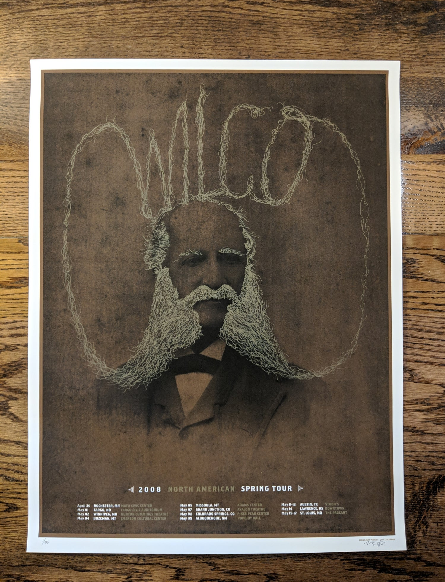 Image of Wilco, North American Spring tour poster 2008
