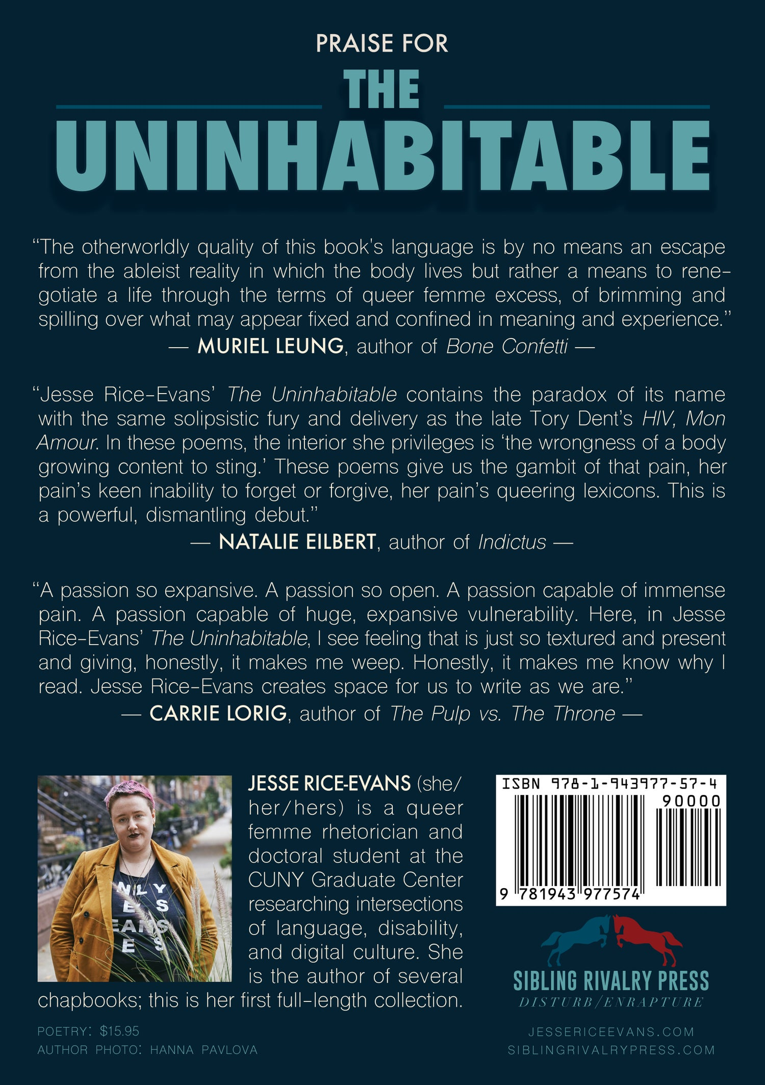 Image of The Uninhabitable by Jesse Rice-Evans