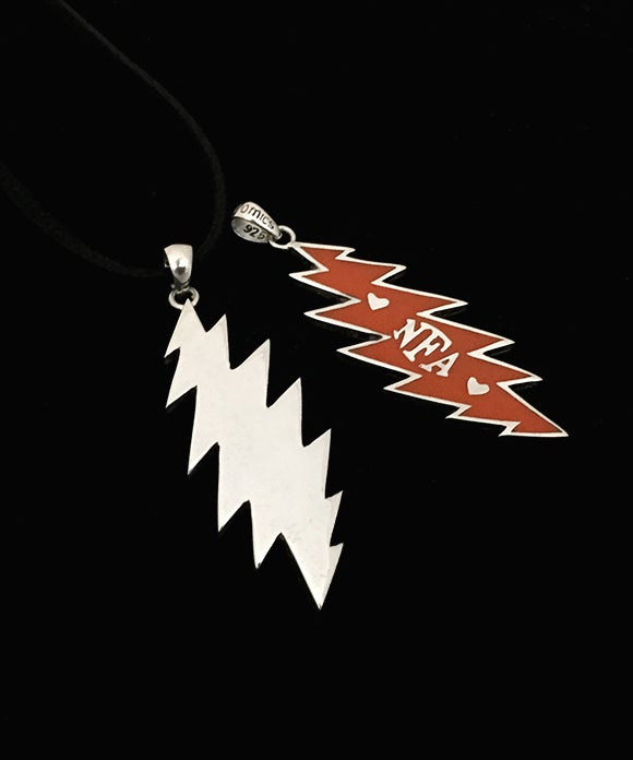 Image of Orange - NFA Sterling Silver Bolt with Resin Pendant