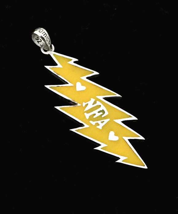 Image of Yellow - NFA Sterling Silver Bolt with Resin Pendant