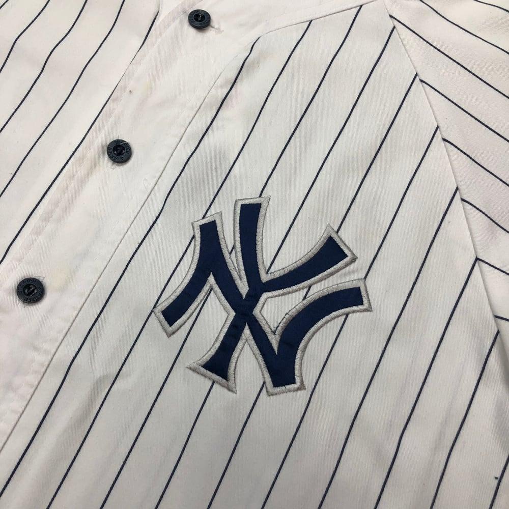 Image of Vintage Starter New York Yankees Pinstripe Jersey - Size Medium
