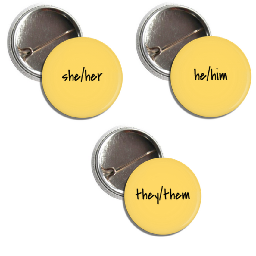 Image of Respect my Pronouns Pins