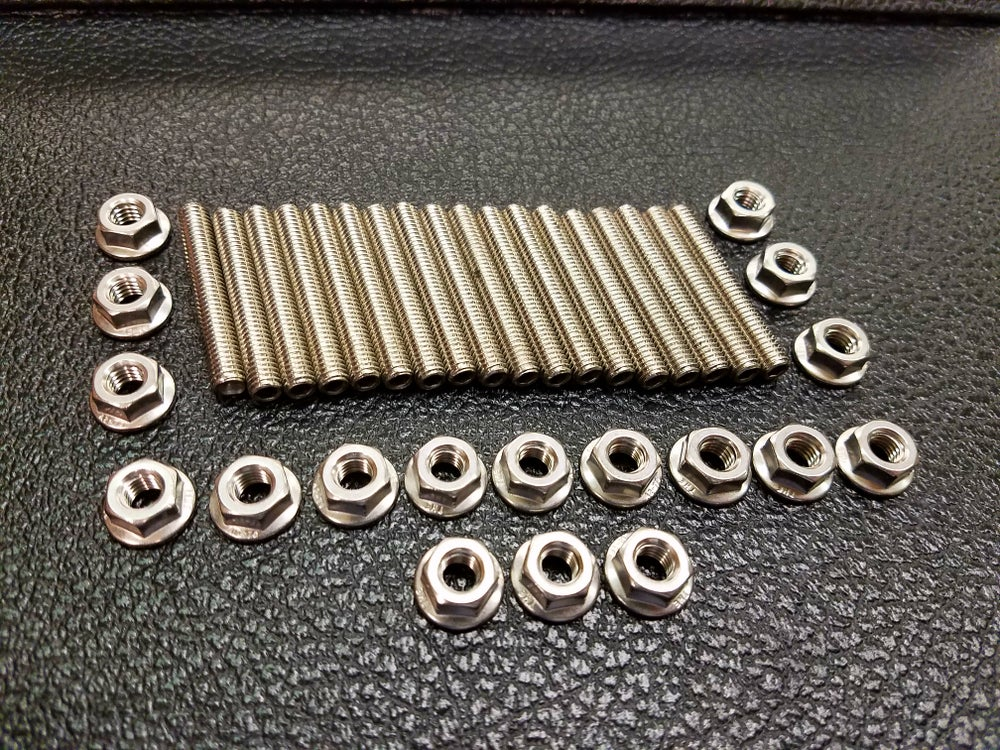 Image of Stainless Steel Oil Pan Stud Kit - Fits 1984-89 Nissan 300ZX & Turbo