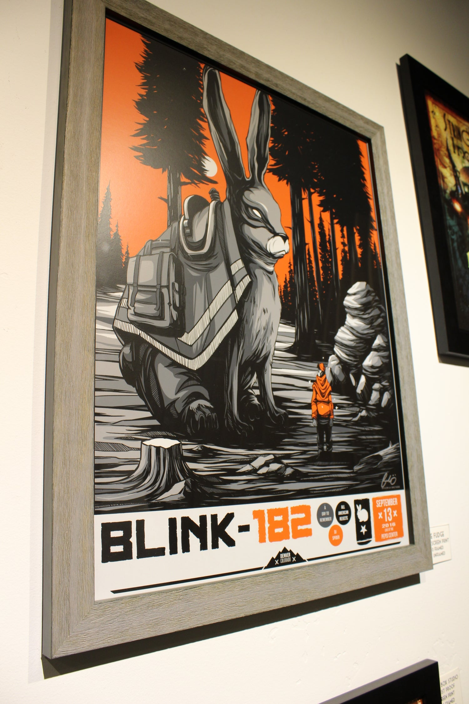 Image of LIMITED EDITION : Mike Fudge - Blink 182 tour poster
