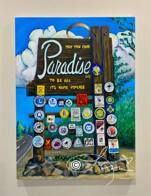 Image of FULL COLOR 11x14 Paradise Sign Archival Print