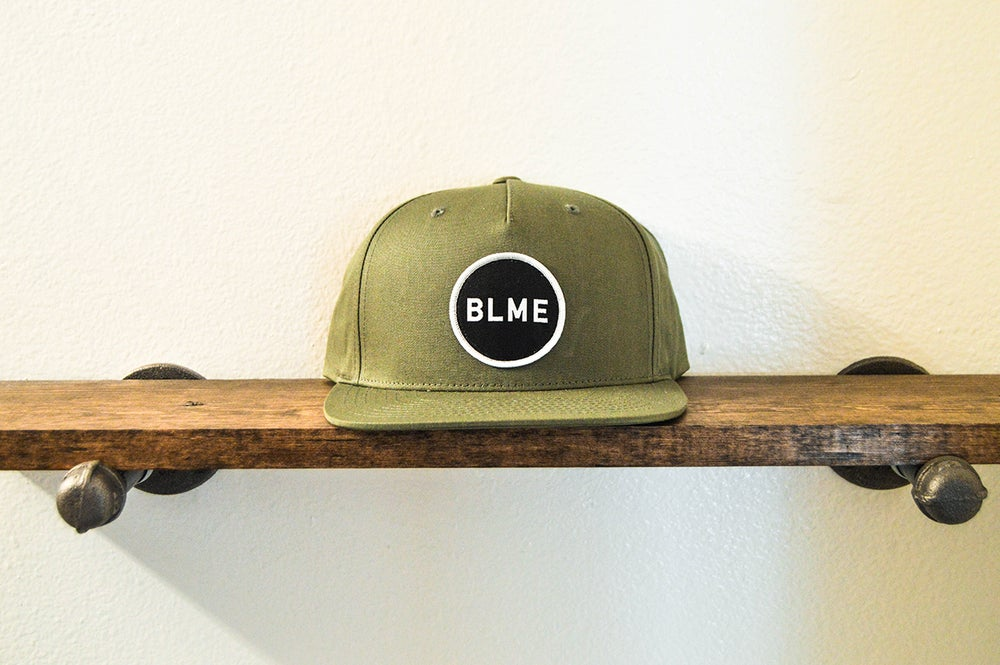 "Image of The ""Hunter"" 5-panel Snapback (Olive Green)"