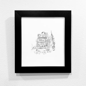 Image of FRAMED Black and White Paradise Sign Archival Print