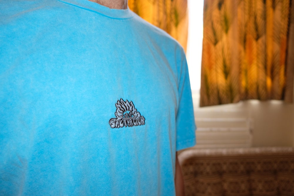 Image of Dusty Blue - Logo Tee