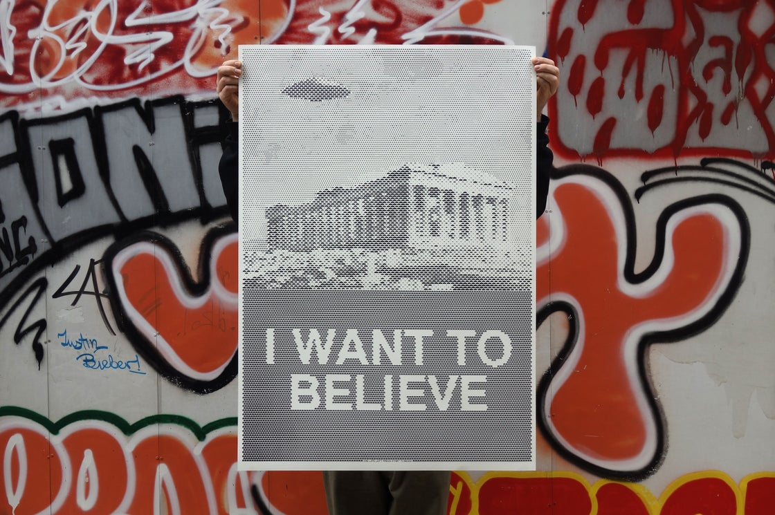 Image of I WANT TO BELIEVE / Silkscreen Poster