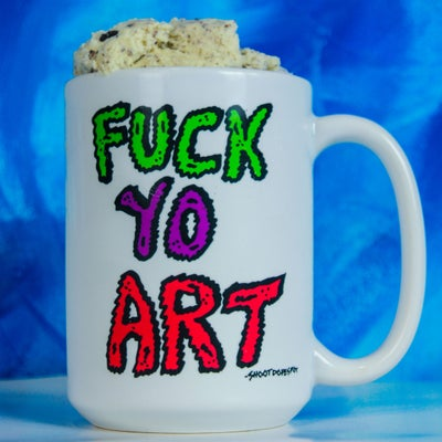 Image of FUCK YO ART MUG 15 Oz