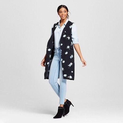 Image of Floral Print Longline Vest