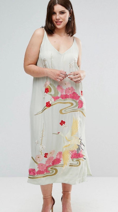 Image of Floral Embroidered Dress