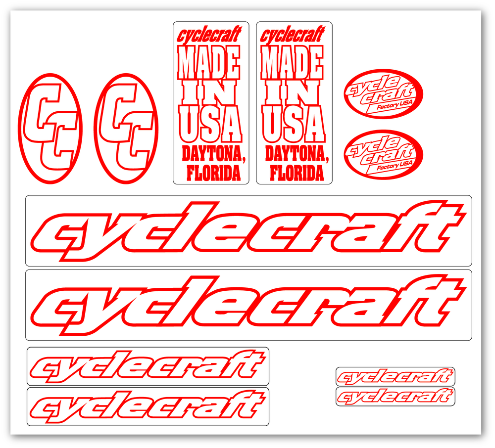 Image of Cyclecraft decal set