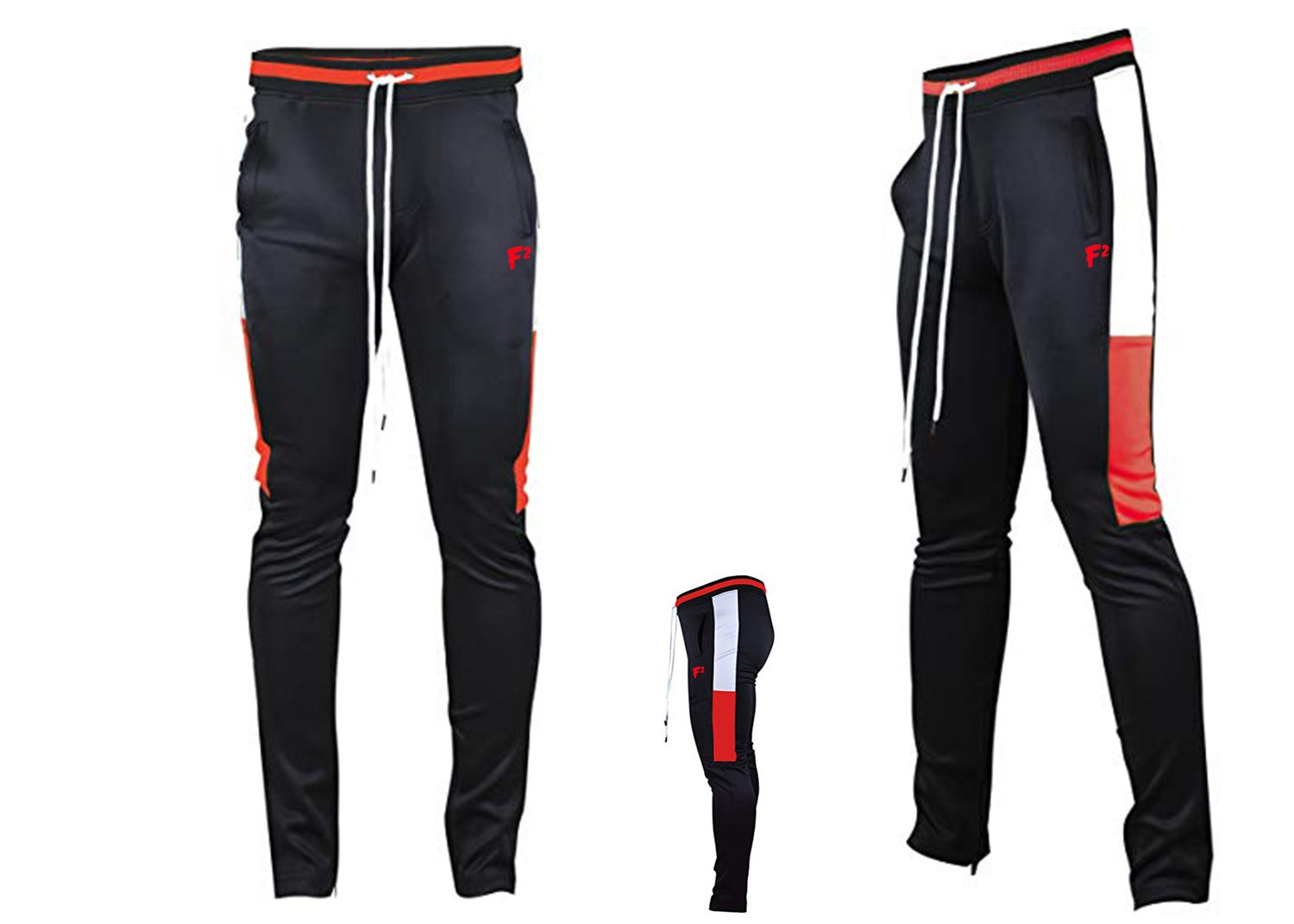 Image of F² black, red , white joggers