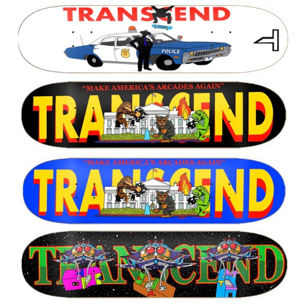 Image of TRANSCEND Made To Order Custom Decks
