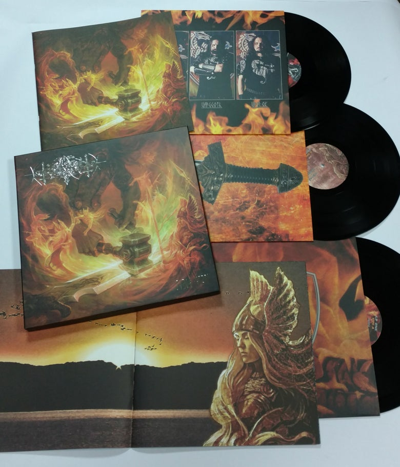 "Image of NOKTURNAL MORTUM ""The Voice of Steel"" deluxe box 3 LP - BLACK vinyl"
