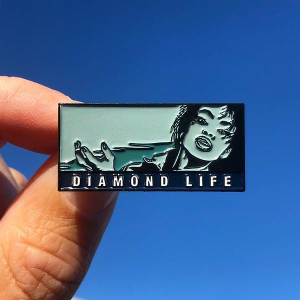 """Image of Sade, """"Diamond Life"""" pin"""