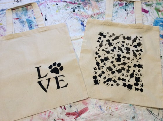 Image of Hand stenciled Tote bags
