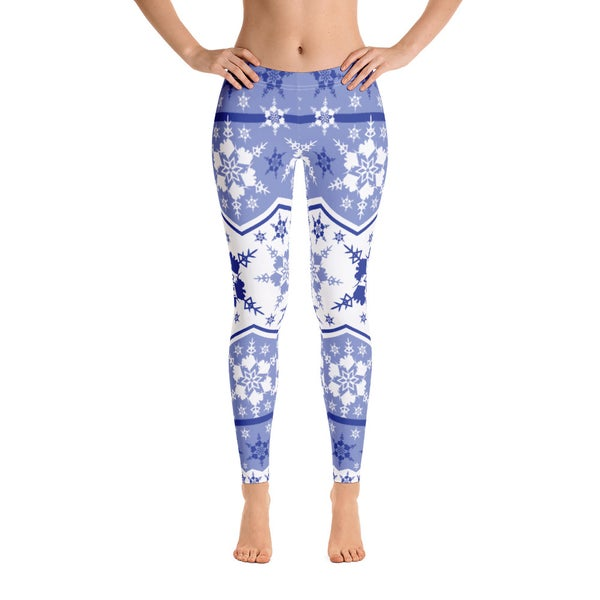 Image of AK Snowflake Leggings - Periwinkle