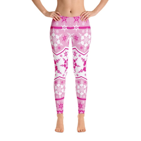 Image of AK Snowflake Leggings - Pink