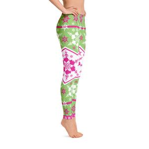 Image of AK Snowflake Leggings - Pink/Green