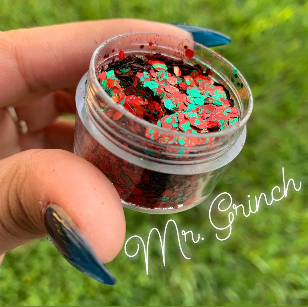 Image of Mr. Grinch Chunky Glitter