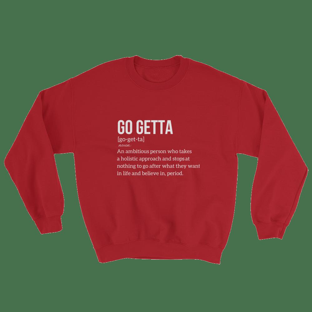 Image of Go Getta Definition Red Unisex Sweatshirt