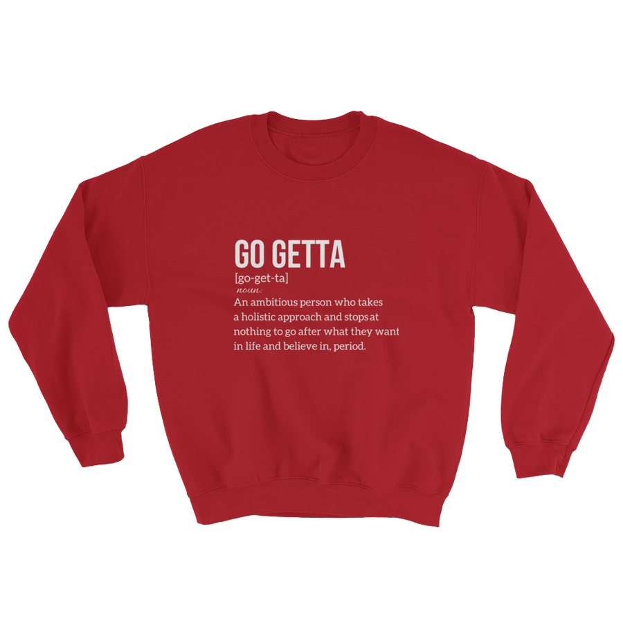 Image of Go Getta Definition Red Unisex Sweatshirt