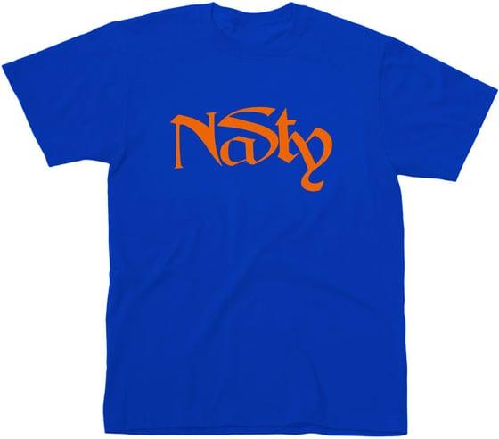 Image of NaSty T-Shirt Blue & Orange XXL