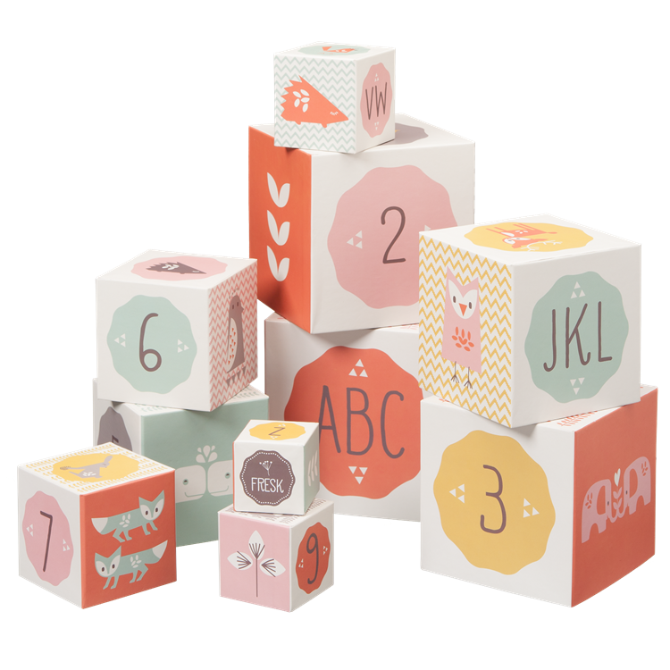 Image of Stacking Alphabet & Number Blocks - Girl