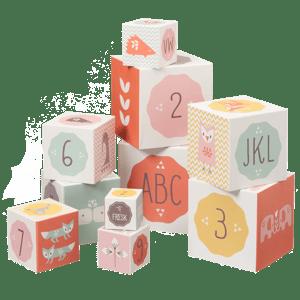Image of Stacking Alphabet & Number Blocks - Girl