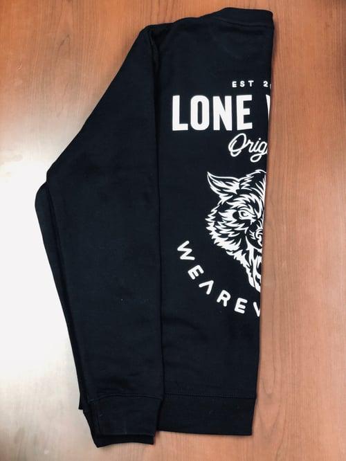Image of LONE WOLF black Crewneck sweatshirt