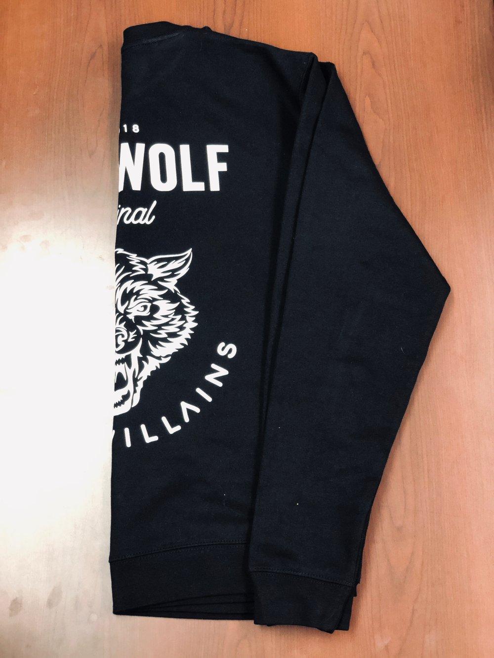 LONE WOLF black Crewneck sweatshirt