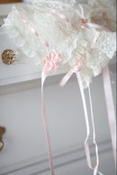 Image 2 of French Lace Bonnet & Lace Bloomer Set