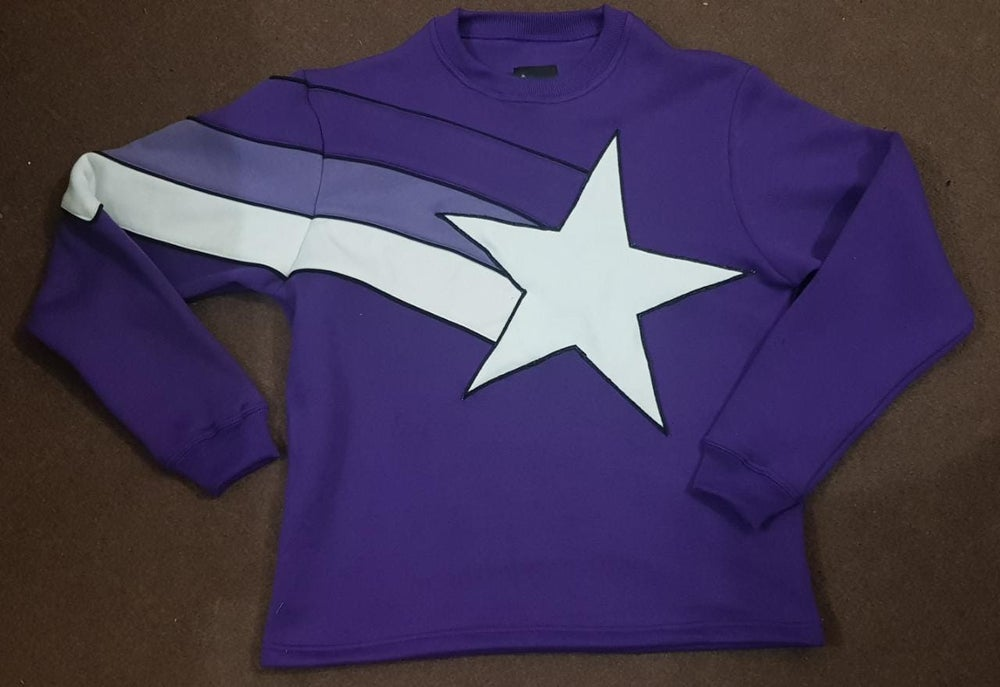 Image of Stupid Hands Purple Star Sweater